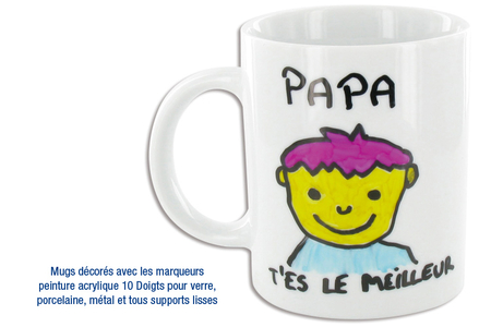 Mug Fêtes des pères - Tutos Fête des Pères – 10doigts.fr