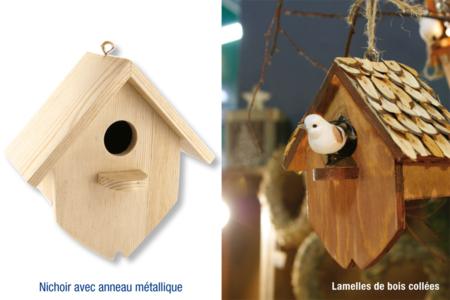 Nichoir en bois, à à suspendre - La Nature – 10doigts.fr