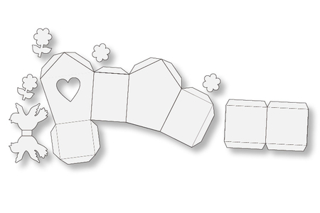 Nichoirs en carte blanche à colorier - Activités enfantines – 10doigts.fr