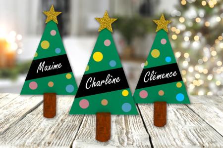 Marque-place sapin de Noël - Noël – 10doigts.fr