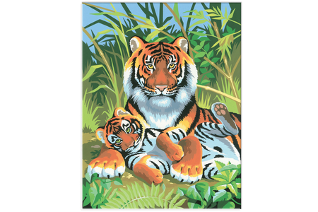Tableau peinture au Numéro - Tigre - Peinture par numéros – 10doigts.fr