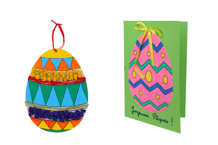Oeufs de Pâques à colorier - 6 pièces - Kits activités Pâques – 10doigts.fr