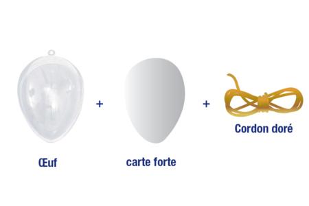 Oeuf en plastique transparent à suspendre - Plastique Transparent – 10doigts.fr