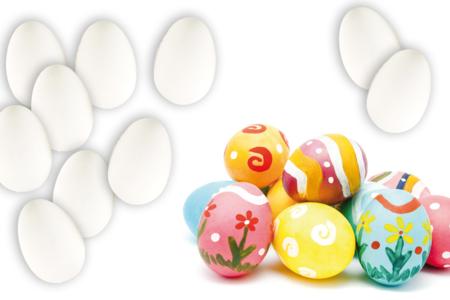 Oeufs en plastique blanc - Plastique Opaque – 10doigts.fr