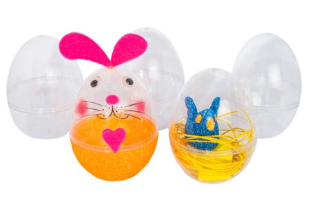 Oeufs en plastique transparent à poser - Lot de 12 - Supports en Plastique – 10doigts.fr