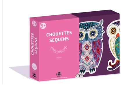 Coffret Sequin - Chouette et Hibou - Coffret Piquage de Sequins – 10doigts.fr