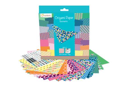 Papier Origami Géométriques - 60 feuilles - Papiers Origami – 10doigts.fr