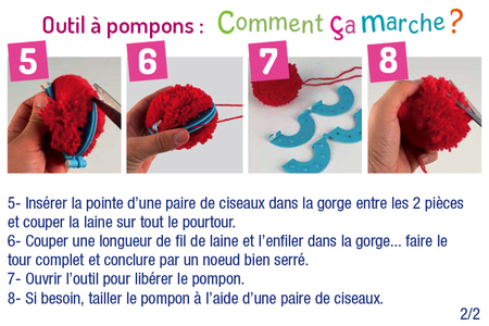 Outils pour fabriquer des pompons - Set de 4 outils - Laine – 10doigts.fr