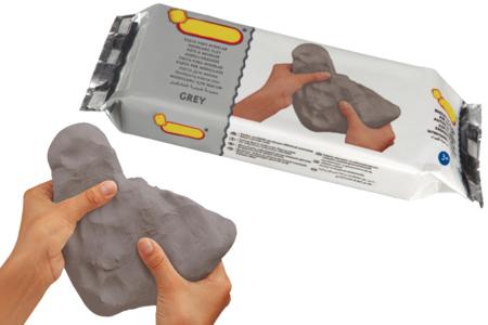 Pâte à modeler effet béton - Pain de 500 gr - Papier mâché – 10doigts.fr
