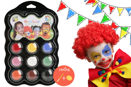Palette maquillage Carnaval - 9 couleurs - Maquillage – 10doigts.fr
