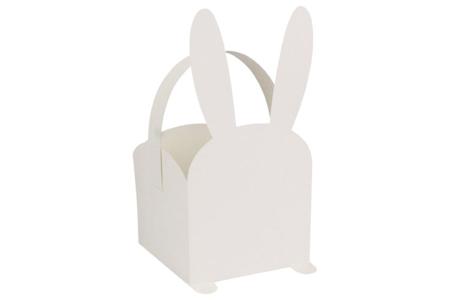 Paniers lapins + gommettes - Lot de 4 - Boîtes en carton – 10doigts.fr