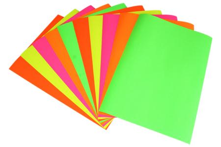 Papier affiche 60 x 80 cm - 10 feuilles fluos - Papier affiche – 10doigts.fr