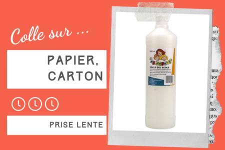 Colle Gel École 1 Litre - Sans solvants - Colles scolaires – 10doigts.fr