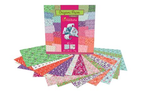 Papier Origami Fleurs - 60 feuilles - Papiers Origami – 10doigts.fr
