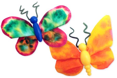 Kit créatif pour fabriquer 75 papillons - Kits activités Nature – 10doigts.fr