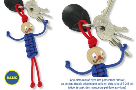 """Porte-clés paracorde """"Bonhomme"""" - Kit pour 12 réalisations - Cordes Paracorde – 10doigts.fr"""