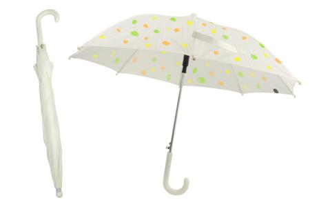 Parapluie blanc à décorer - Taille enfant - Plastique Opaque – 10doigts.fr