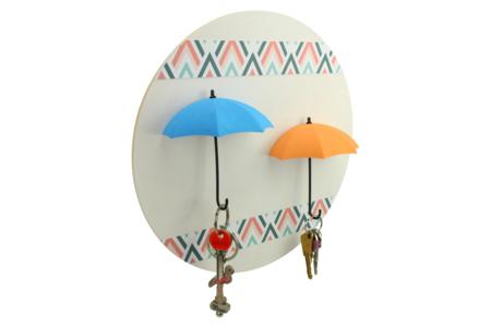 Parapluies porte-clés à décorer - Lot de 3 - Plastique Opaque – 10doigts.fr