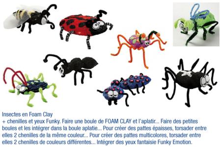 Insectes en FOAM CLAY - Activités enfantines – 10doigts.fr