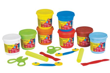 Maxi kit de modelage (dès 2 ans) - Pâtes à modeler + accessoires - Modelage 1er âge – 10doigts.fr