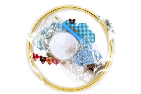 """Kit tableau """"Peinture Diamant"""" baleine - Kit Diamond Painting – 10doigts.fr"""