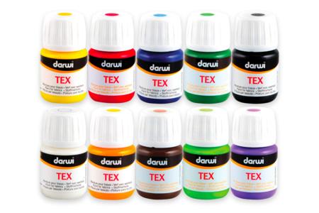 Peintures textile DARWI - Peinture Tissu – 10doigts.fr