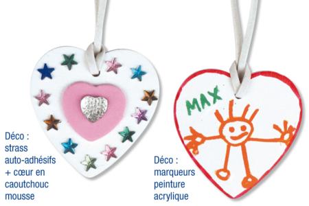 Collier cœurs à décorer - Kit pour 6 colliers - Colliers – 10doigts.fr