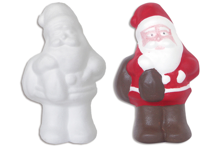 Père Noël en polystyrène 21 cm - Sujets en polystyrène – 10doigts.fr