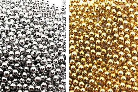 Perles billes intercalaires or ou argent - 1500 perles - Perles intercalaires – 10doigts.fr