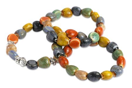 Perles mouchetées en céramique - 80 perles - Perles en céramique – 10doigts.fr