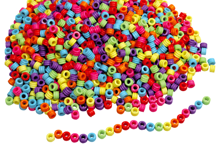 Perles cylindre - 2000 perles - Perles enfant – 10doigts.fr