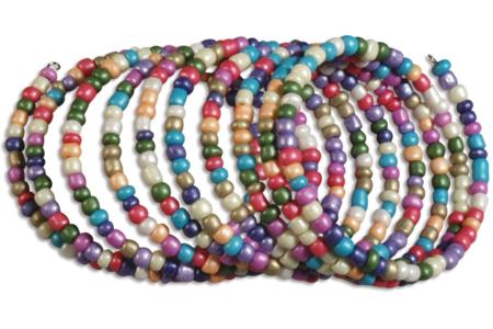Bracelets en grosses perles de rocaille - Tutos Fête des Mères – 10doigts.fr