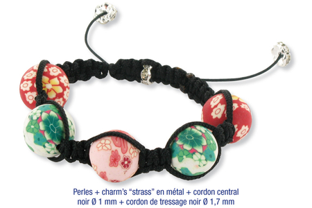 Shamballas... avec des perles en pâte polymère millefioris - Bijoux Shamballas - 10doigts.fr