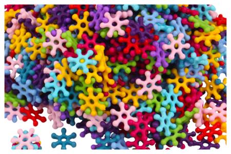 Perles flocons - 500 perles - Perles acrylique – 10doigts.fr