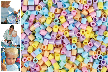 Perles fusibles à repasser - Couleurs pastel - Perles Fusibles 5 mm – 10doigts.fr