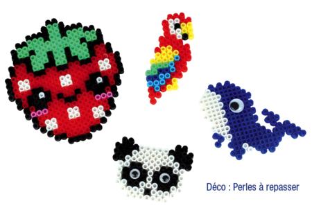 Perles fusibles à repasser, couleurs translucides - Perles Fusibles 5 mm – 10doigts.fr