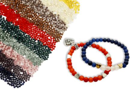 Perles rondes opaques et translucides - 1500 perles - Perles opaques – 10doigts.fr