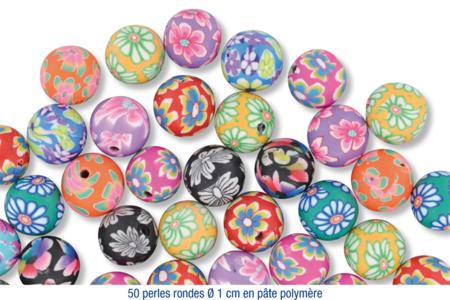"""Shamballas... avec des perles en pâte polymère millefioris + Charm's argentés circulaires avec strass """"diamant"""" incrustés - Bijoux Shamballas – 10doigts.fr"""