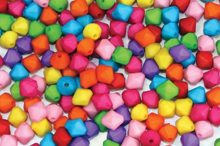 Perles toupies à facettes opaques - 300 perles - Perles acrylique – 10doigts.fr