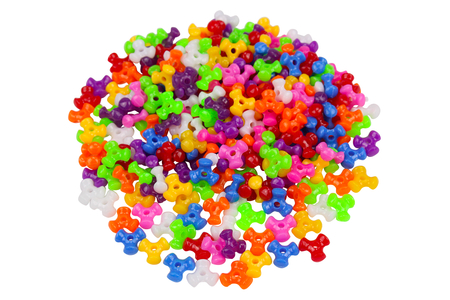 Perles tripodes opaques en plastique - Set de 250 - Perles en plastique – 10doigts.fr
