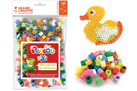 Perles à repasser Taille XXL  - 500 perles - Perles tons vifs – 10doigts.fr