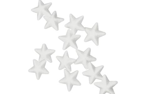 Étoile polystyrène blanc - Lot de 48 - Formes à décorer – 10doigts.fr