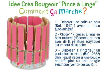 Bougeoir pinces à linge - Bougies et savons – 10doigts.fr