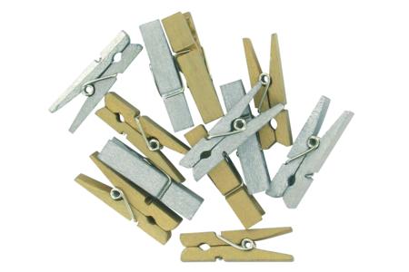 Pinces à linge métallisées - Set de 24 - Pinces à linge colorées – 10doigts.fr