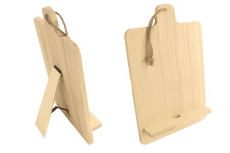 Support chevalet pour tablette en bois - Cuisine et vaisselle – 10doigts.fr