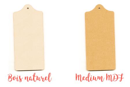 Planchette en bois ou MDF - 20 cm - Cuisine et vaisselle – 10doigts.fr