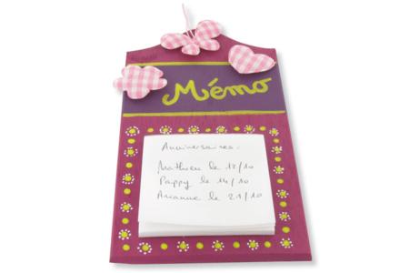 Planchette Mémo Vichy - Fête des Mères – 10doigts.fr