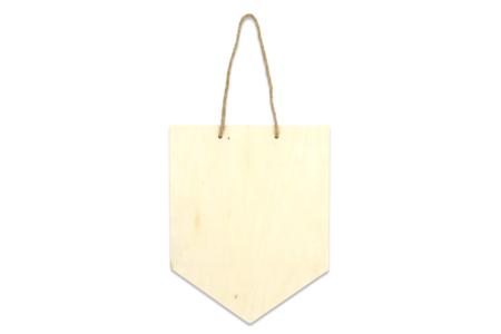Fanion en bois naturel - Plaques de porte – 10doigts.fr