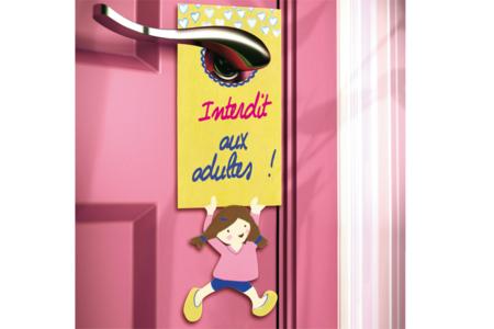 Plaque pour poignée de porte pour fille - Décoration d'objets – 10doigts.fr