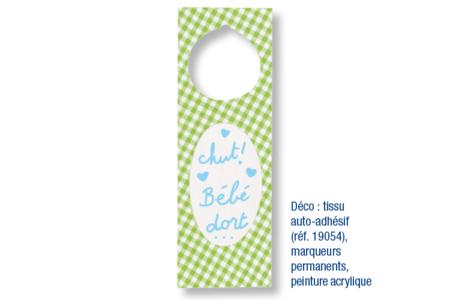 Blason pour poignée de porte - Décoration d'objets – 10doigts.fr